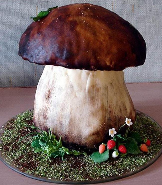 Как сделать форму грибами